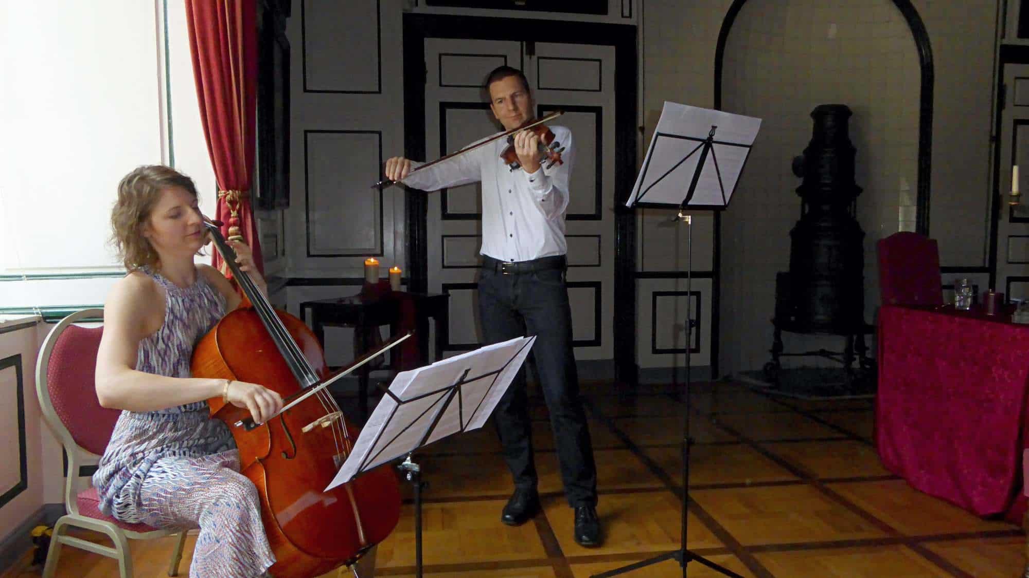 Livemusik zur Hochzeitszeremonie auf Schloss Hohenlimburg