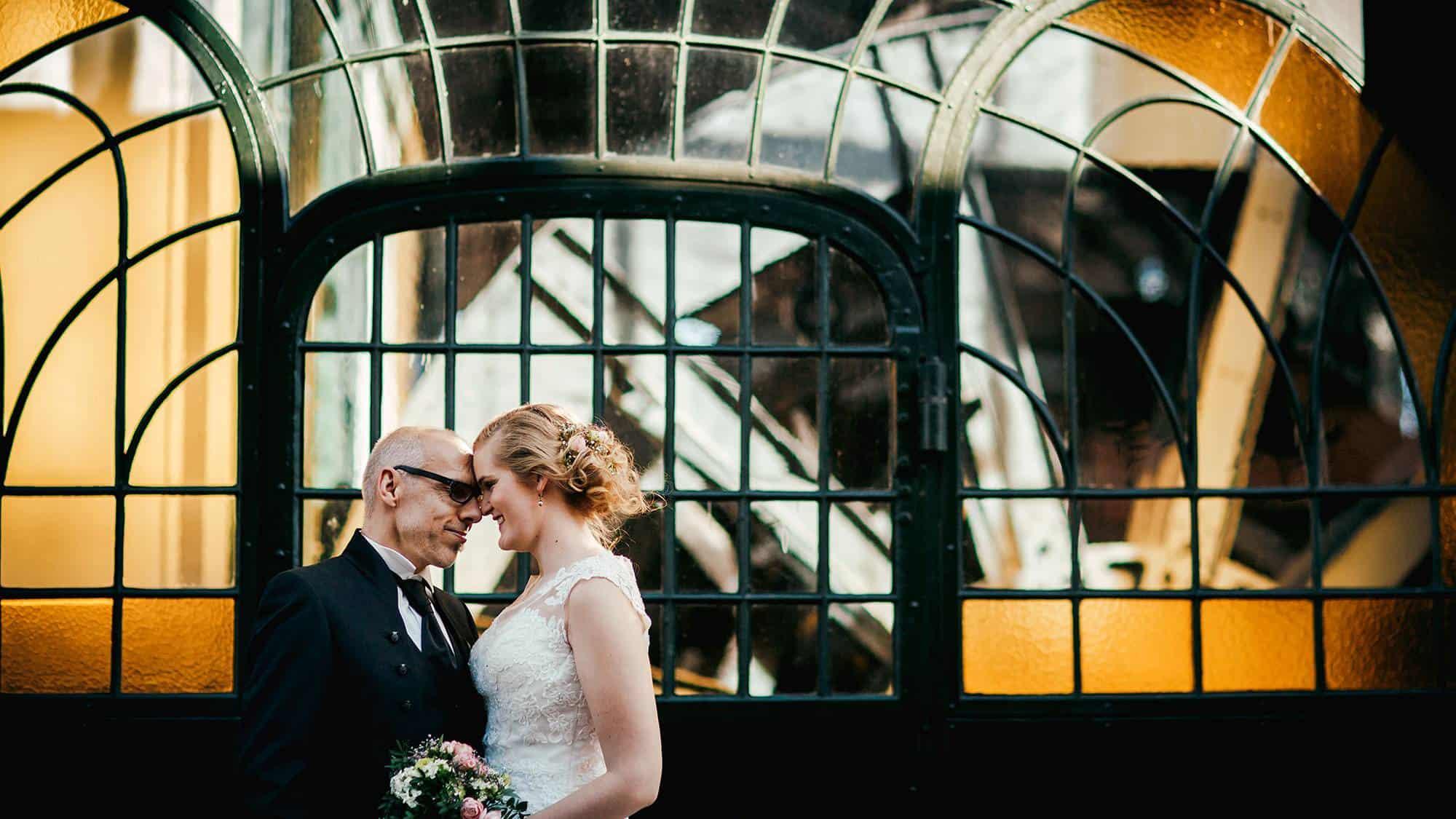 Brautpaar nach der Trauzeremonie