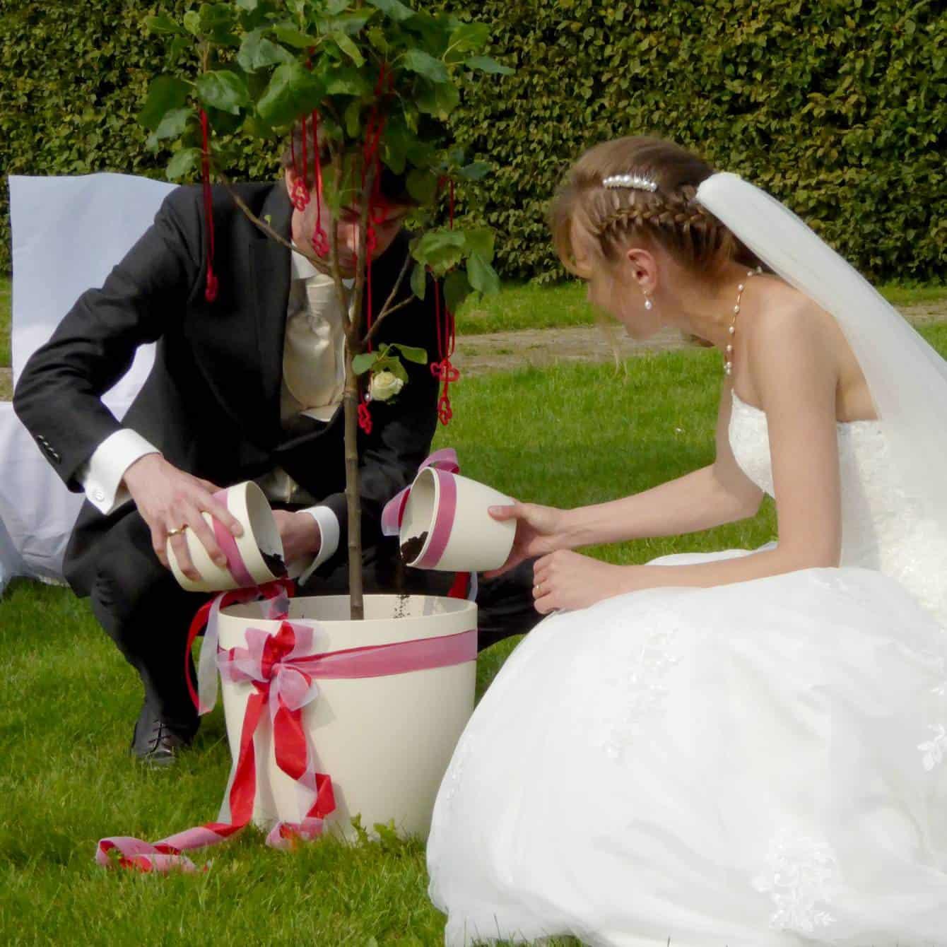 Ritual Apfelbaum pflanzen bei der freien Trauung