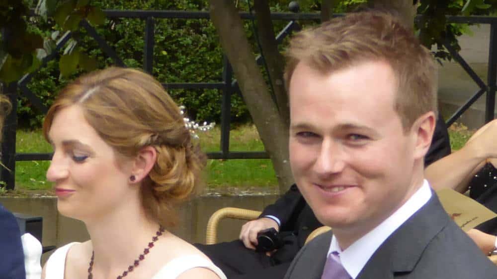 Hochzeitspaar während der Zeremonie