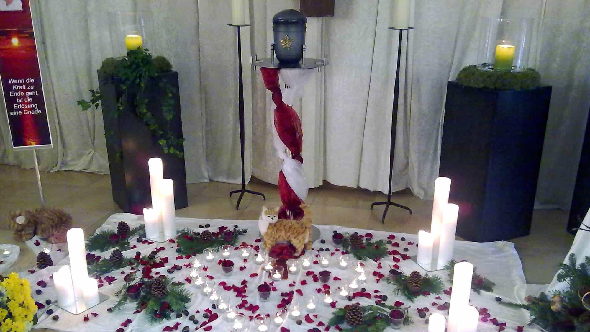 Ritual für die Trauerfeier